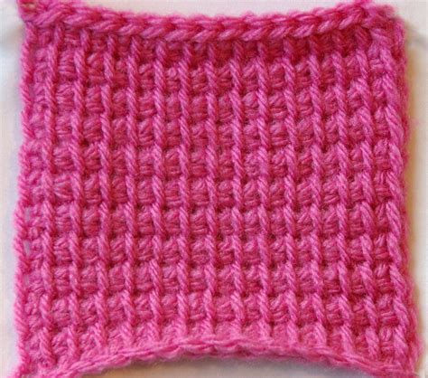 tunisian crochet knit stitch crocheting the day away tutorials and free patterns