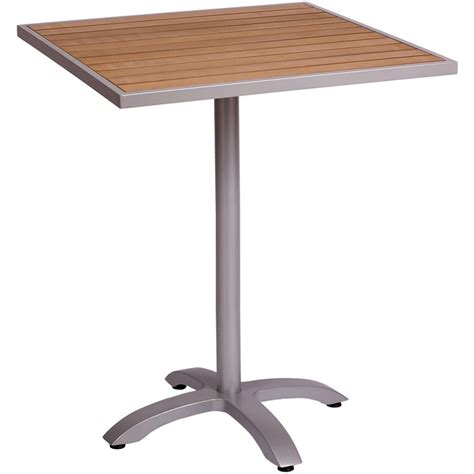 aluminum patio table aluminum patio tables with plastic teak top bar height