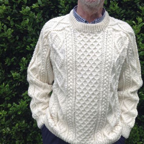 how to knit aran sweater the design on this saddle shoulder aran fisherman