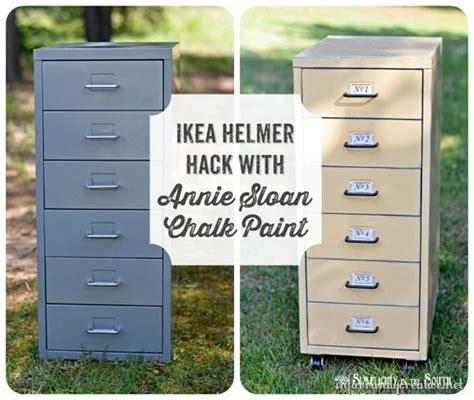 chalk paint ikea ikea hack helmer drawer set metal file cabinets chalk