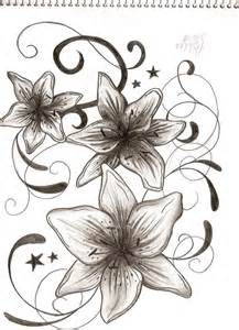 tattoo lily and stars tribal by ash 1jpg picture