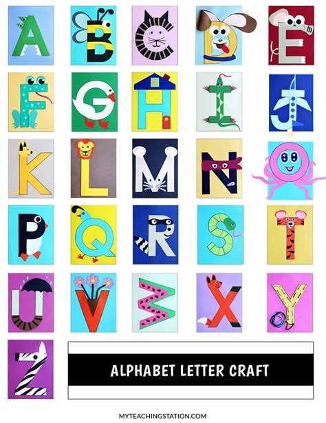alphabet crafts for alphabet letter crafts myteachingstation