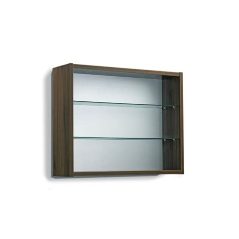 wall mounted display shelves contemporary open display cabinet 2 glass shelves wall