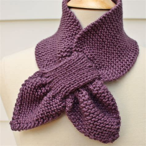 free baby scarf knitting pattern knit scarf keyhole scarf scarflette purple winter diy