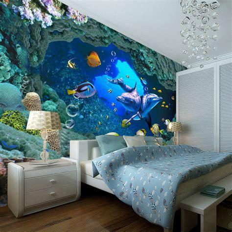 underwater themed bedroom 3d underwater world wallpaper custom wall mural