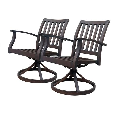 allen roth patio chairs shop allen roth gatewood 2 count brown aluminum patio