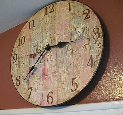 decoupage clock paint chip clock decoupage tip junkie