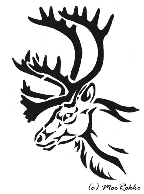 caribou tribal by morrokko on deviantart