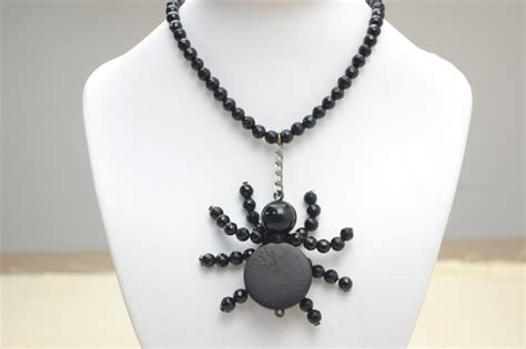 how to make a simple beaded necklace simple beaded spider necklace diy pictures photos and