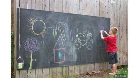diy chalkboard for toddlers weekend diy backyard chalkboard willard and may outdoor