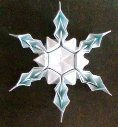 origami snowflake origami snowflake stringing