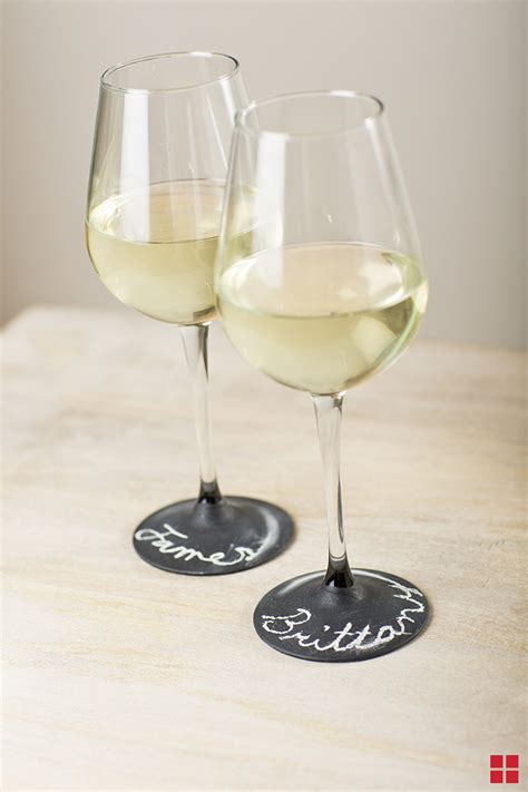 diy chalkboard label wine glasses how to use chalkboard spray paint on wine glasses