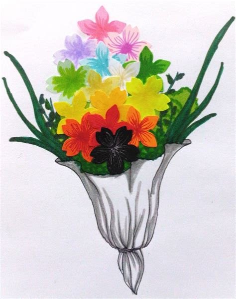 paper craft flowers bouquet papercraft bouquet of flower by blackrose frozenrose on