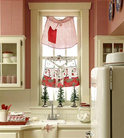 country kitchen curtain ideas 23 ways to decorate your kitchen for the holidays