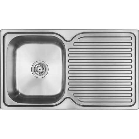 single kitchen sink abey en100 single left bowl single drainer stainless