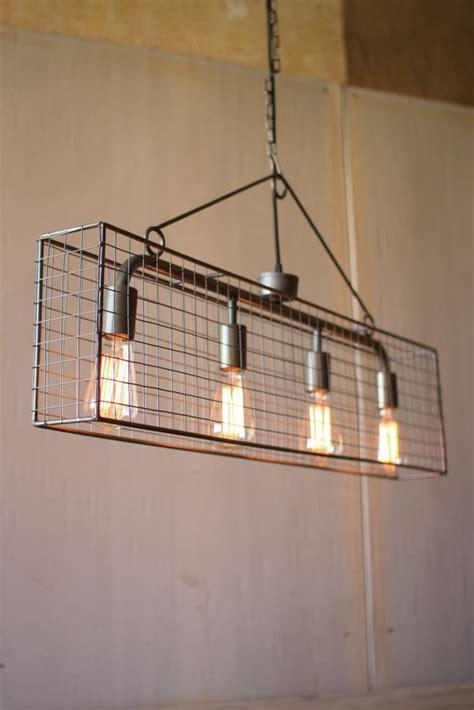 rectangle chandelier industrial caged rectangle chandelier modern furniture