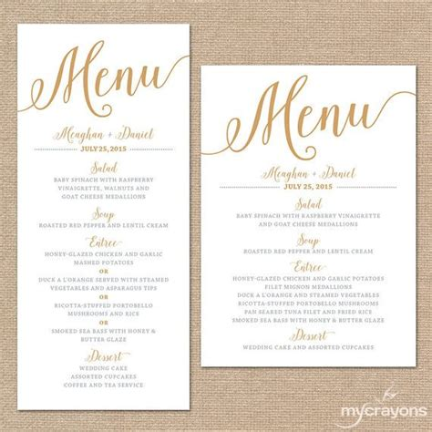 how to make menu cards 25 best ideas about menu cards on wedding