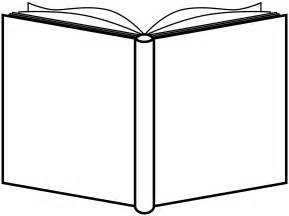 outline picture of a book clipart book open outline