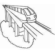 Coloring Pages Bullet Train For Preschoolers  Point