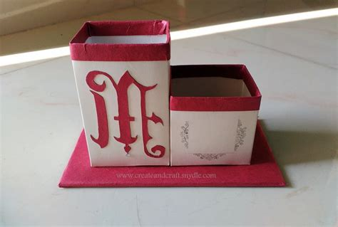 pen stand craft for how to make a desk organiser diy create and craft