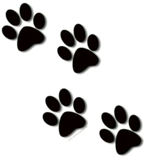 paw print tattoos on dog paw prints scroll clipart 3 4