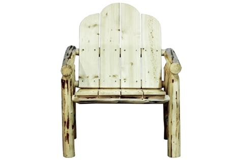 unfinished outdoor furniture deck chair montana collection unfinished log outdoor