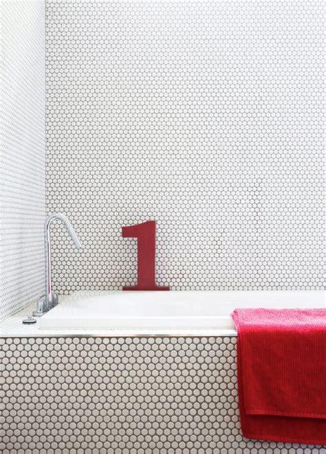 Modern Small Bathrooms 30 penny tile designs that look like a million bucks