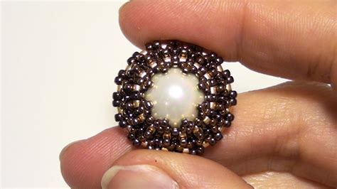 how to do beading beadsfriends how to bezel a pearl using seed and