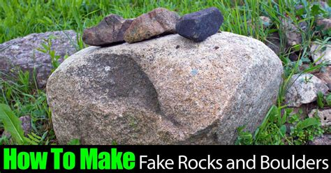 landscape rocks how to make landscape rocks and boulders