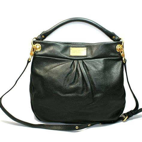 black leather the shoulder bag marc by marc black leather hobo shoulder bag m3pe083 marc by marc m3pe083