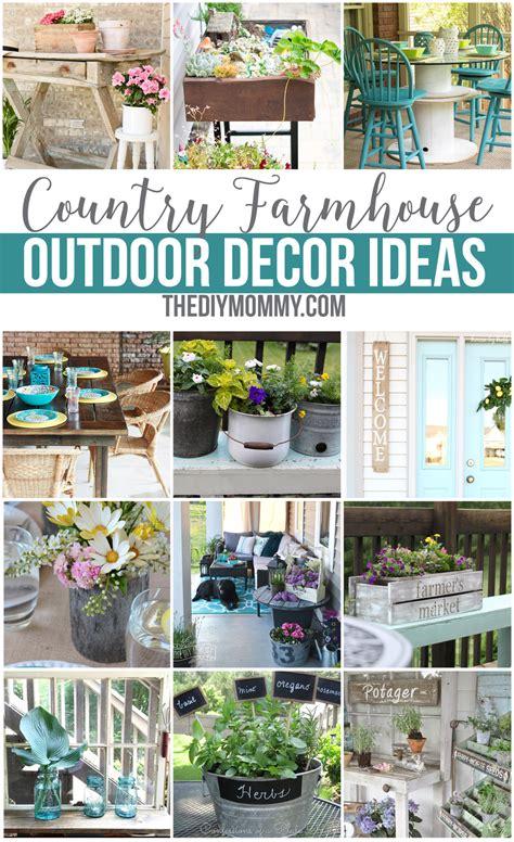diy outdoor decor 12 gorgeous country farmhouse outdoor d 233 cor ideas the