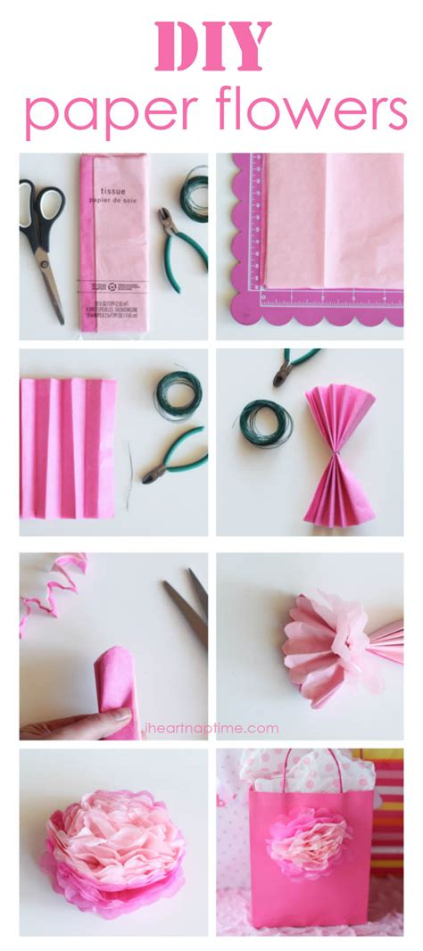 crafting paper flowers how to make tissue paper flowers i nap time