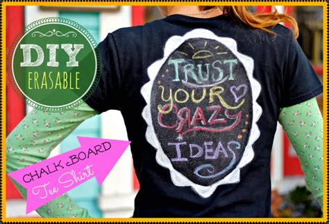 diy chalkboard t shirt 8 awesome diy projects jaderbomb
