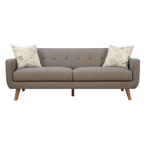 modern sofa pillows latitude run mid century modern sofa with accent pillows