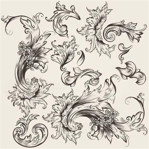 design a ornament floral swirl ornament design vector 03 vector floral