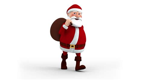 santa claus animations pole background loop animation with merry