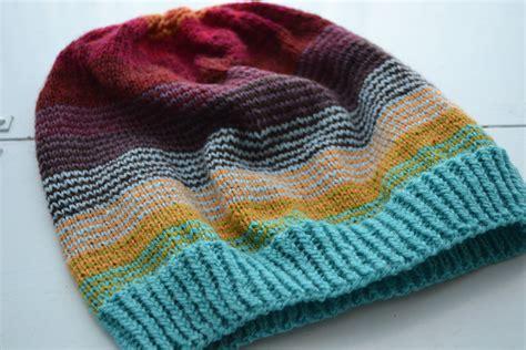 best yarn for knitting hats sock stashbuster slouch hat aknitica
