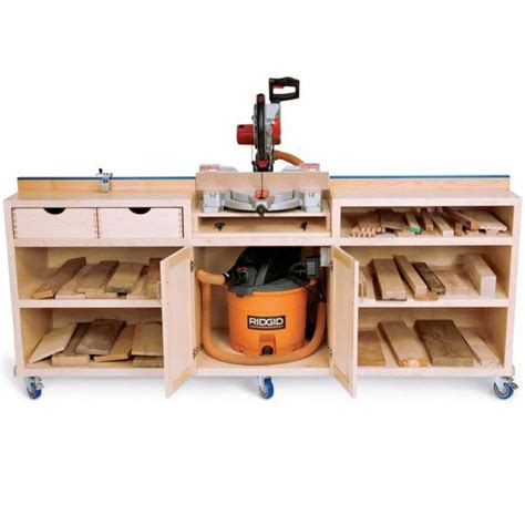 woodworker s journal plans woodworker s journal ultimate miter saw stand plan