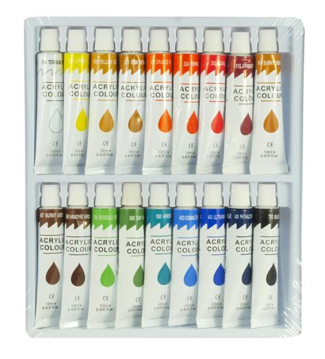 acrylic painting set 18 color acrylic paint set 12 ml artist draw