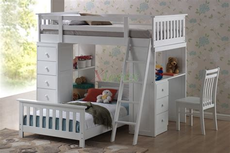 lofts and bunk beds huckleberry loft bunk beds for with storage desk