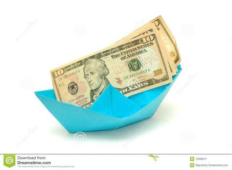 dollar origami boat dollar on origami boat royalty free stock photography