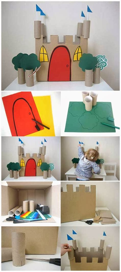 toilet paper roll castle craft toilet paper roll crafts for paper crafts ideas for