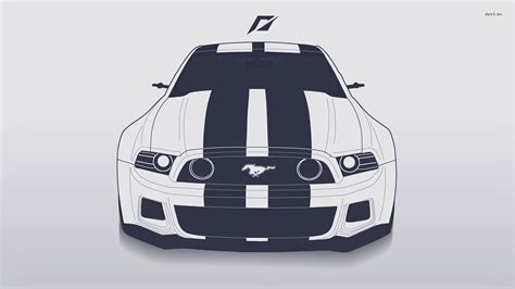 Car Vector Wallpaper by Ford Mustang Vector Hd Cars 4k Wallpapers Images