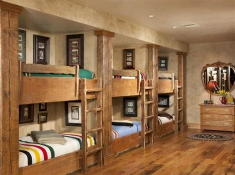 bunk style beds lodge style bunk beds panda s house