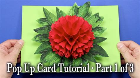 how to make a flower pop up card flower pop up card tutorial part 1 of 3