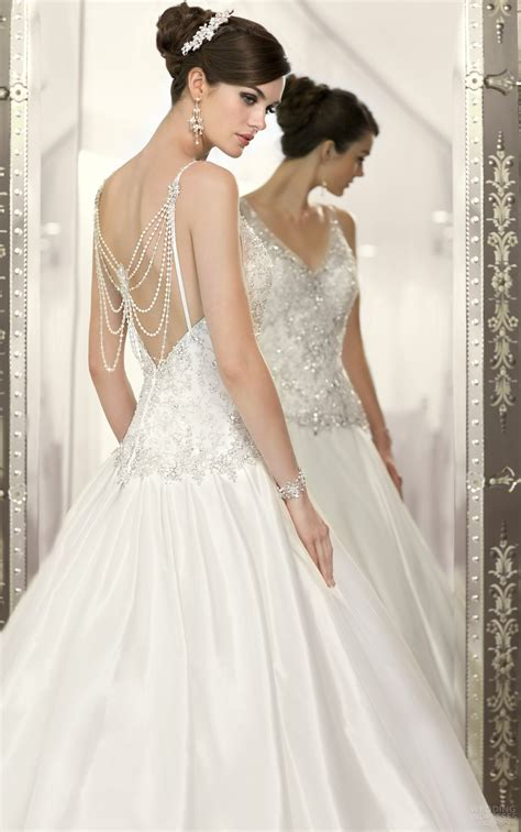 wedding dress beaded back beaded back wedding dress with v neckline sang maestro