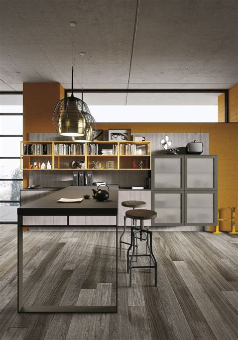 Unusual Kitchen Cabinets industrial loft kitchen with light wood in design digsdigs