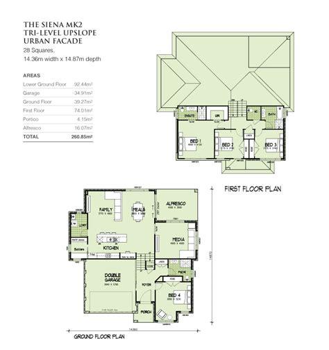 tri level home plans designs mkii tri level upslope 28 squares home design tullipan homes