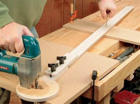 jigsaw projects woodworking cut circles with a router or jigsaw woodworking jig plans