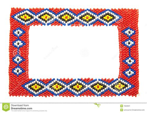 beaded picture frames beaded picture frame isolated on white stock image